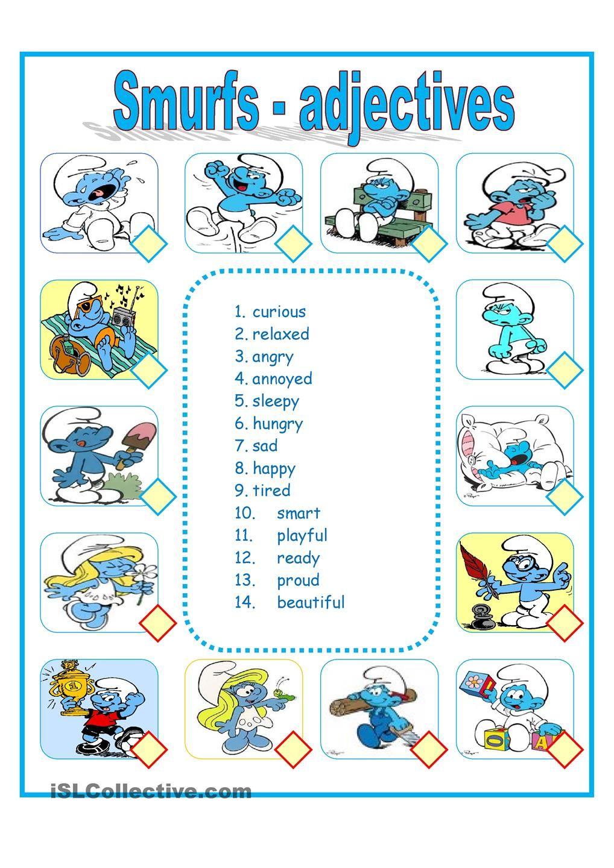 the smurfs Smurfs, Classroom jobs, English teaching