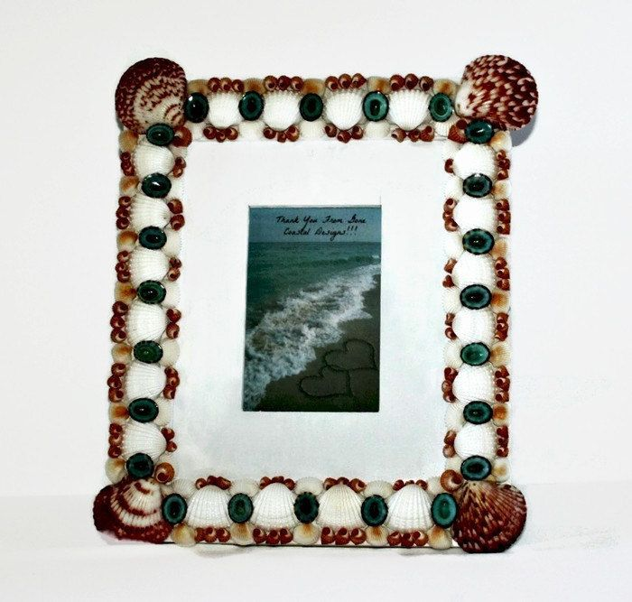 Large Beach Decor Shell Frame by GoneCoastalDesigns on Etsy https://www.etsy.com/listing/229228457/large-beach-decor-shell-frame