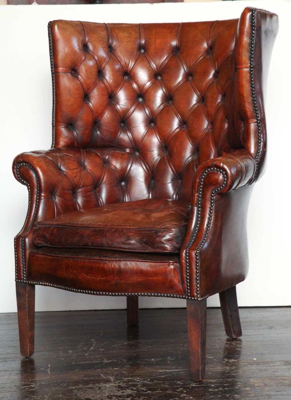 Phenomenal Georgian Style Leather Library Chair For My Love Of All Spiritservingveterans Wood Chair Design Ideas Spiritservingveteransorg