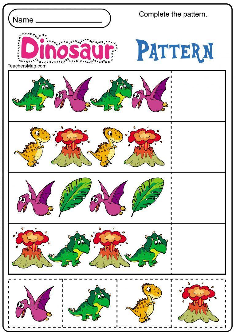 Free Dinosaur Printables For Preschool Teachersmag Com Dinosaur Activities Preschool Dinosaurs Preschool Dinosaur Theme Preschool [ 1086 x 768 Pixel ]