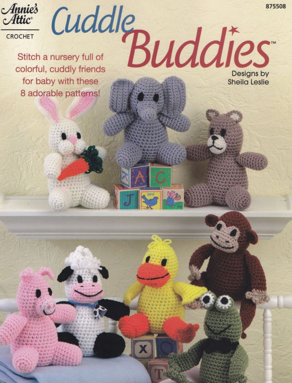 Cuddle Buddies Annies Attic Crochet Pattern Booklet 875508 Rare