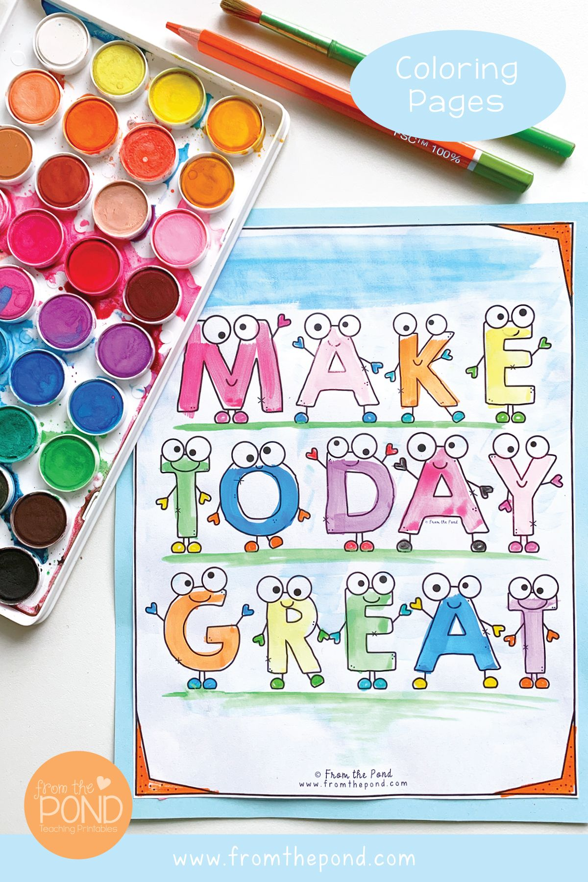 Make Today Great Coloring Page In 2021 Free Coloring Pages Classroom Art Projects Kids Art Projects [ 1800 x 1200 Pixel ]