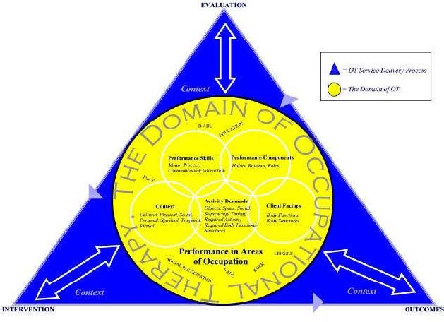Process of Service Delivery and Domain of Occupational Therapy | OT ...
