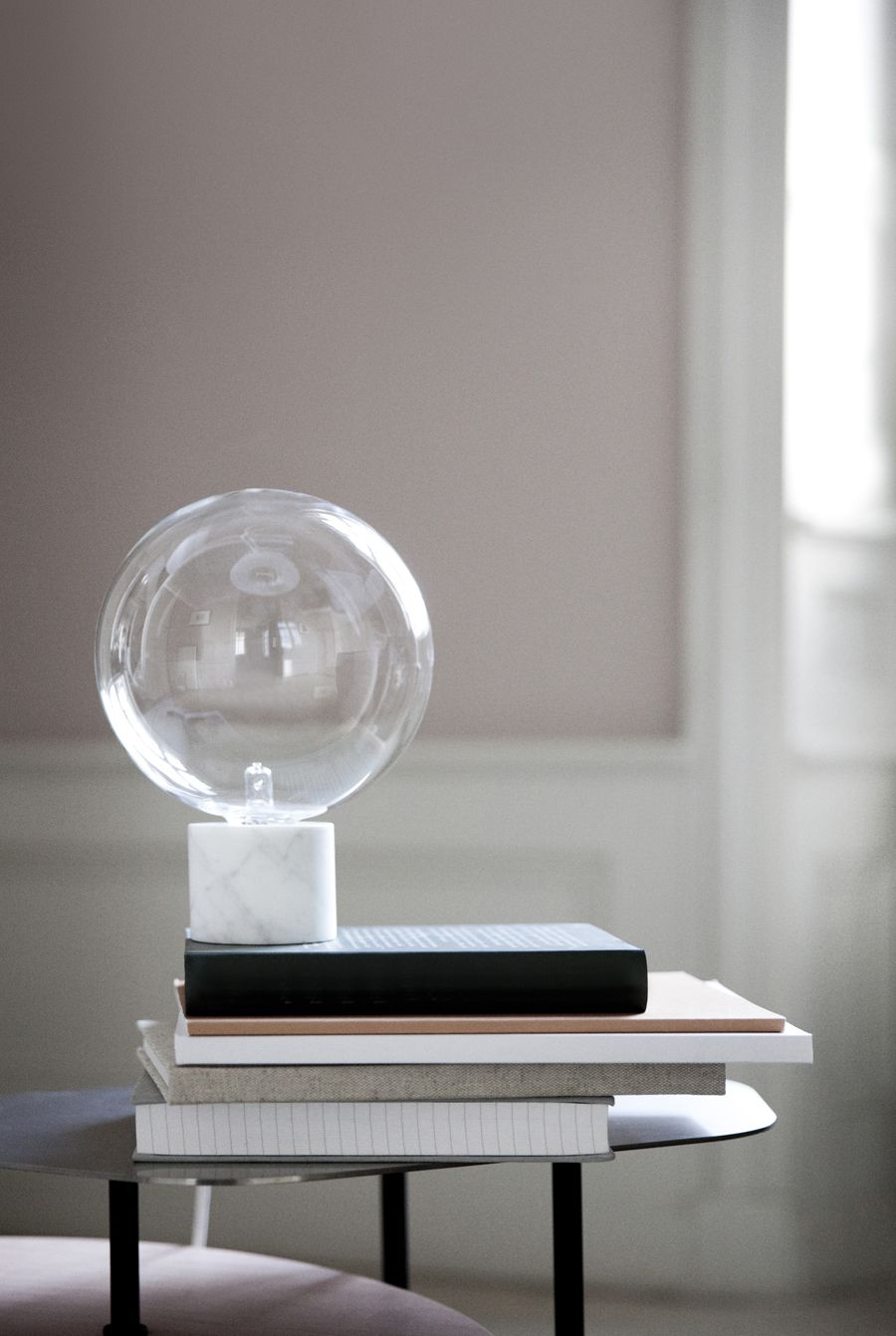 Andtradition news lights interiors and marbles andtradition news marble lamplight tablelamp geotapseo Gallery