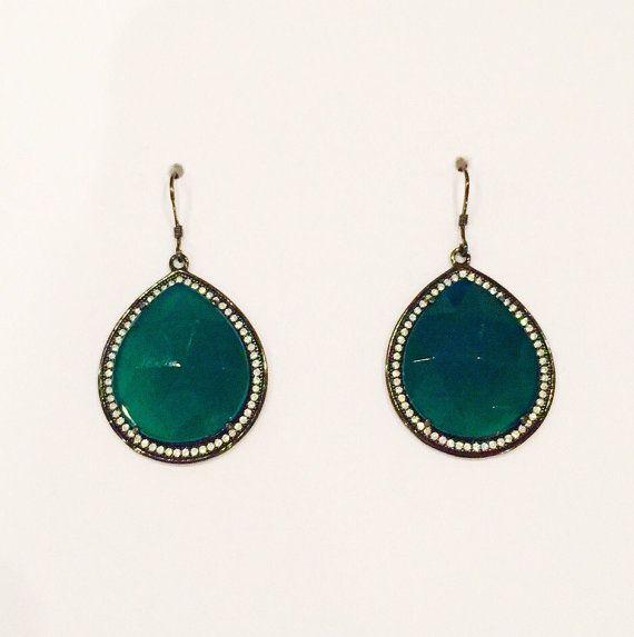Esmeralda Single Drop Earrings by LVCr8 on Etsy