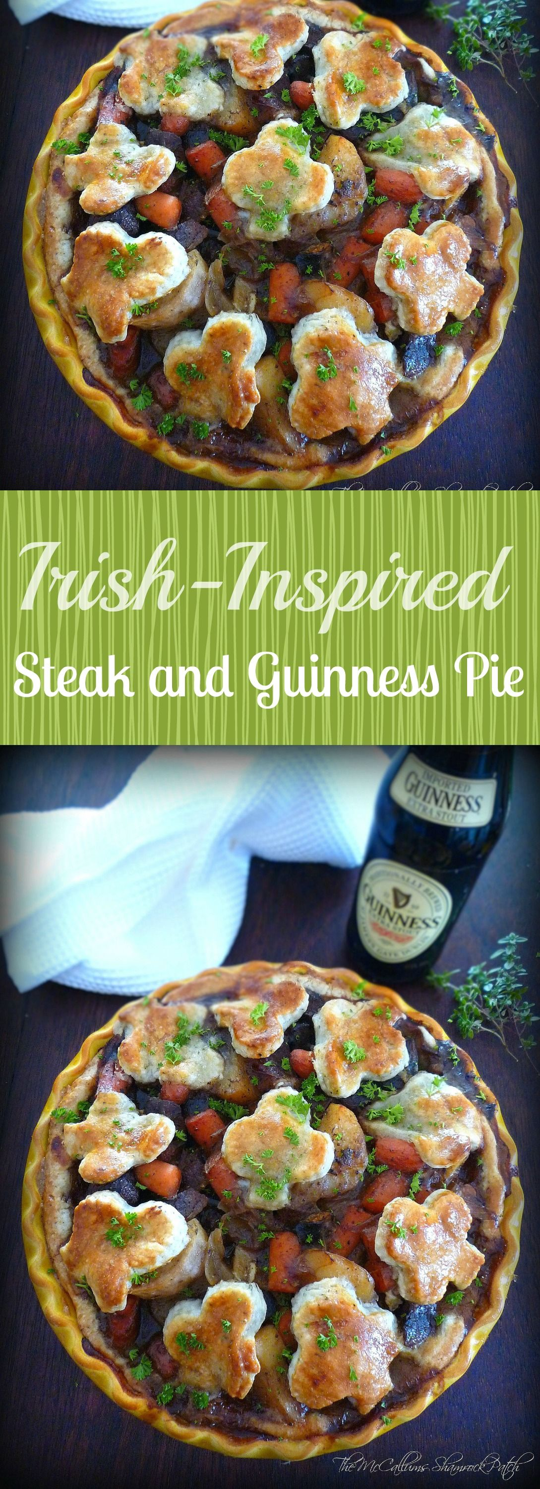 Steak & Guinness Pie | Steak, guinness pie, Guinness pies ...