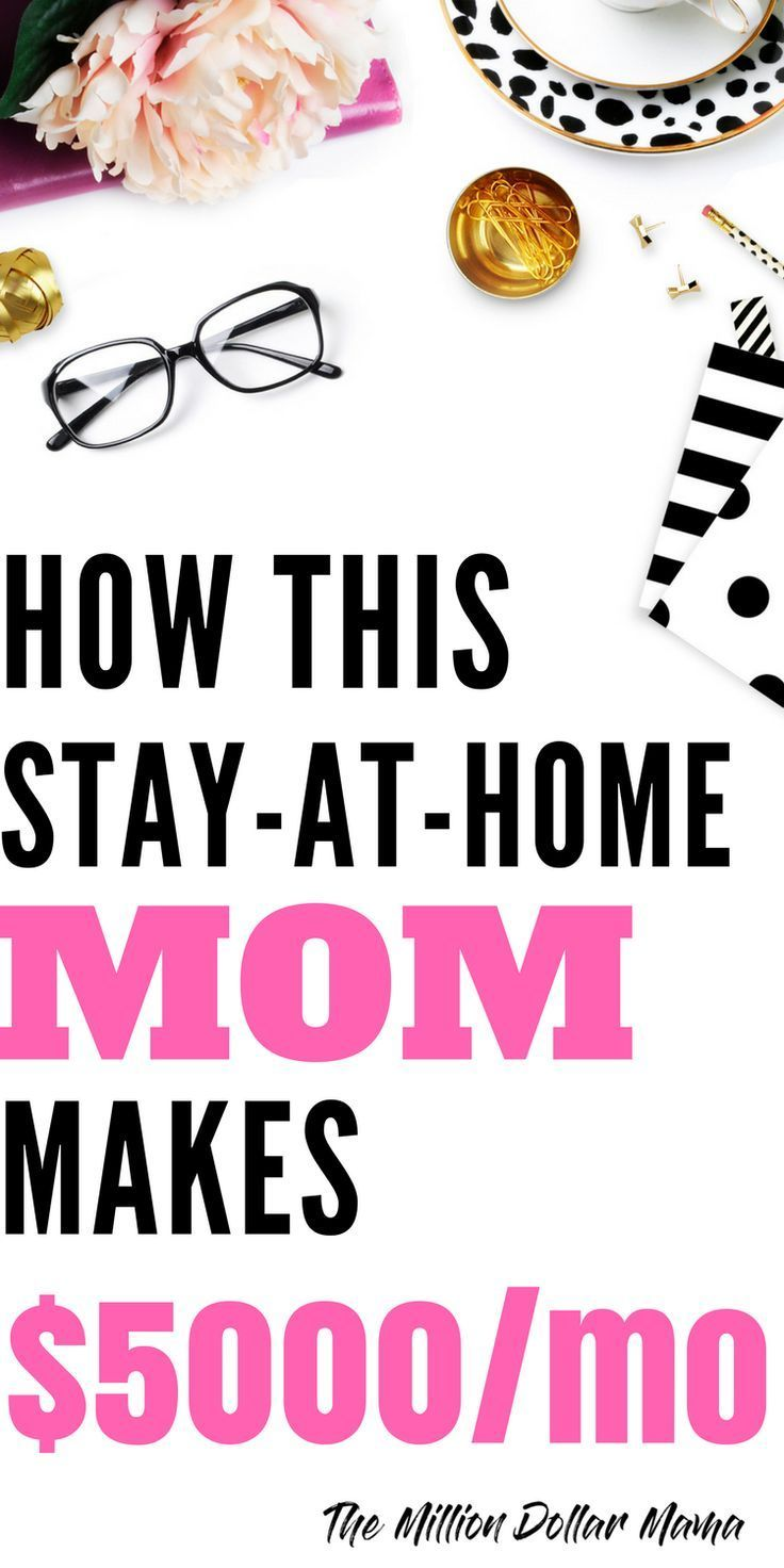 Wow! This stay at home mom makes $5000 a month completely from home ...
