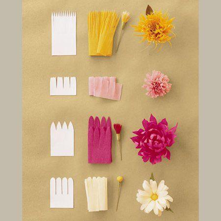 des fleurs en papier crépon | deco | pinterest | fleurs en papier