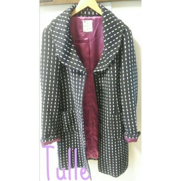 Jacket Beautiful long jacket...awesome stitching detail Tulle Jackets & Coats