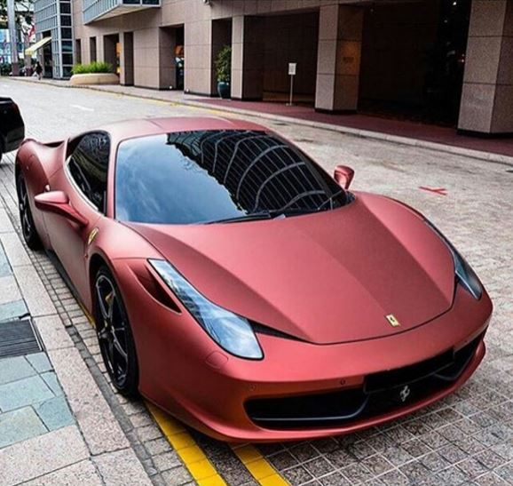 Gorgeous Red Matte Paint Job On This Ferrari.