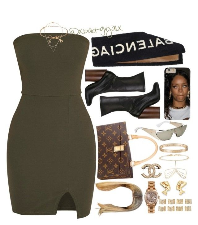 """All of a sudden everyone and they mother jack themselves  ""bougee"" "" by xbad-gyalx ❤ liked on Polyvore featuring Givenchy, Balenciaga, Louis Vuitton, Christian Dior, Cartier, Isabel Marant, Charlotte Russe, Wouters & Hendrix Gold, Rolex and Maison Margiela"
