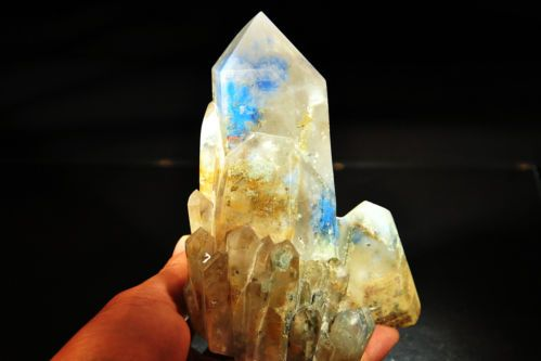 Papagoite Phantom Quartz Cluster
