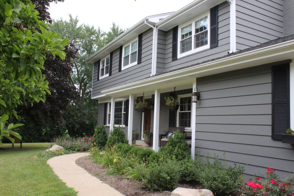 Amherst Gray By Benjamin Moore Even On The Exterior Where Won 39 T This Paint Look Amazeballs