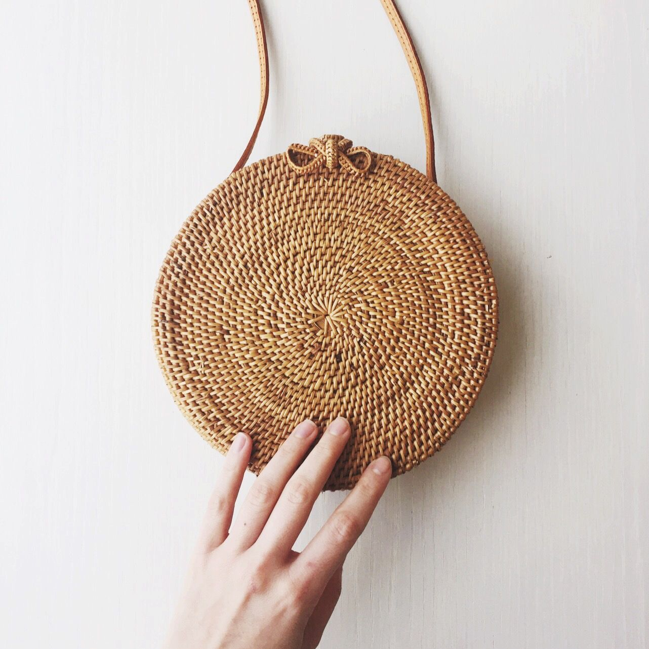bembien woven circle bag