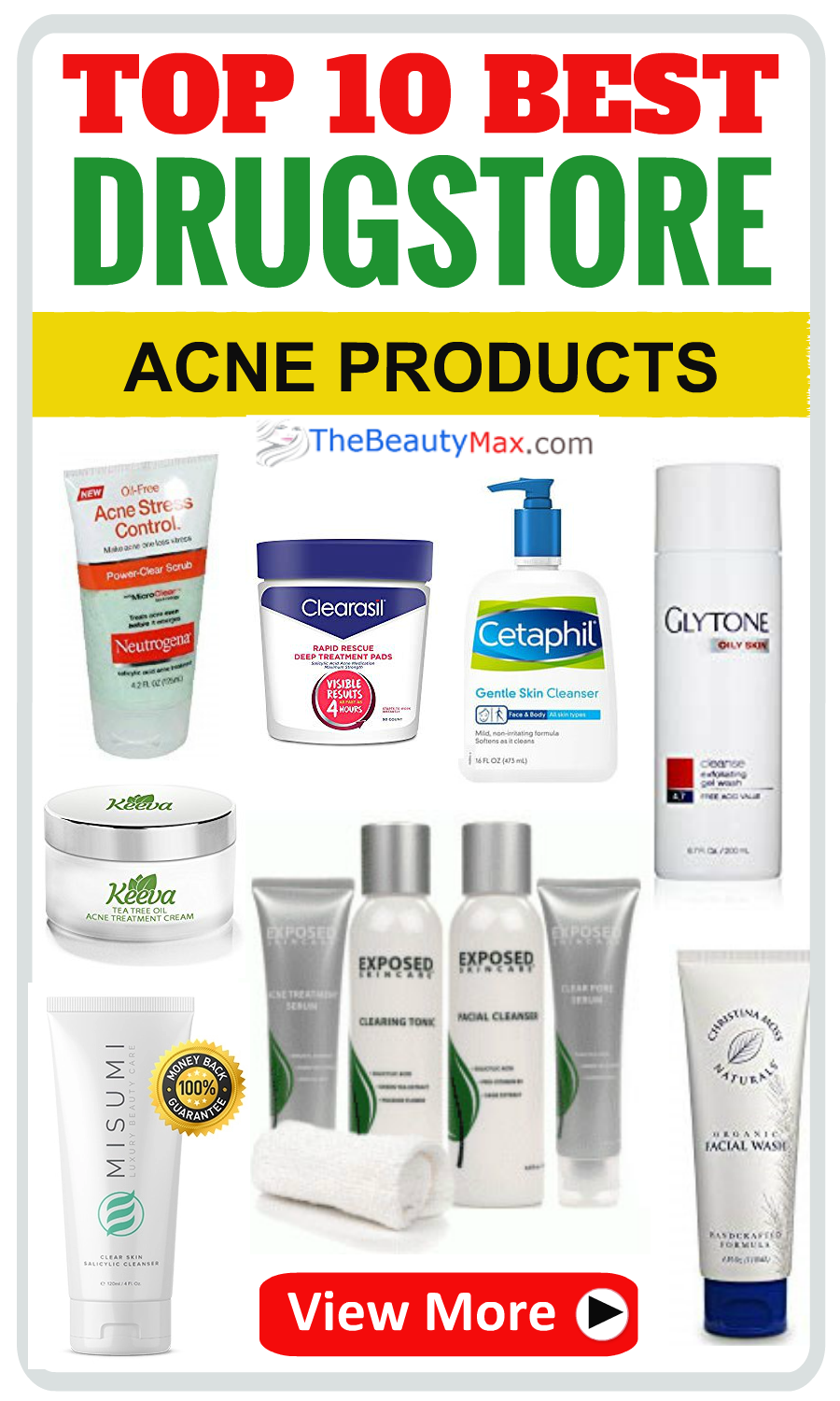 Best Drugstore Acne Treatments Of 2019 Top Over The Counter