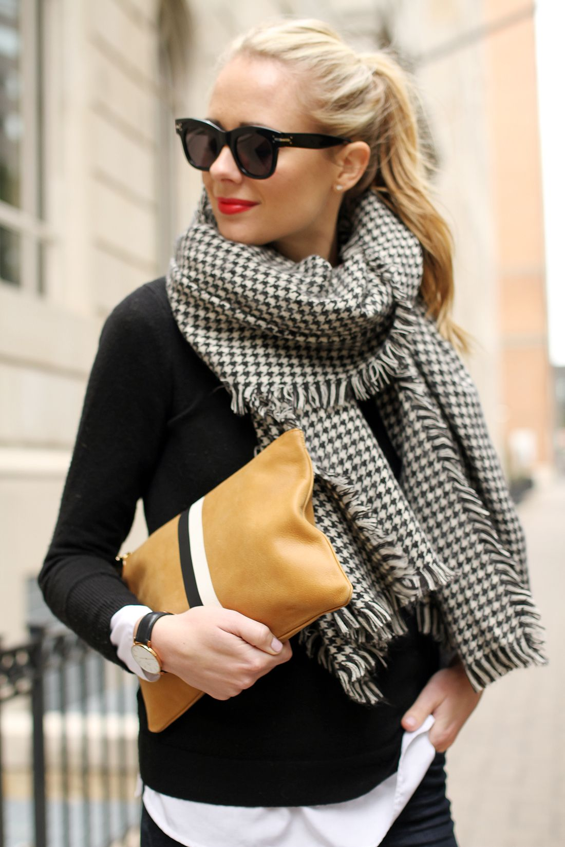 Image result for Upgrade a casual ensemble with a scarf