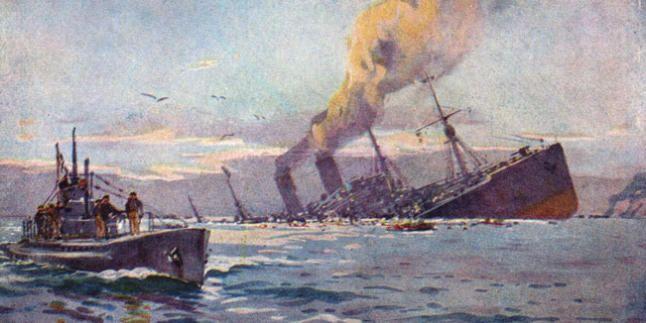 En 1917 el barco inglés fue dinamitado cerca de Motril por el todopoderoso submarino de Von Arnauld de la Perière