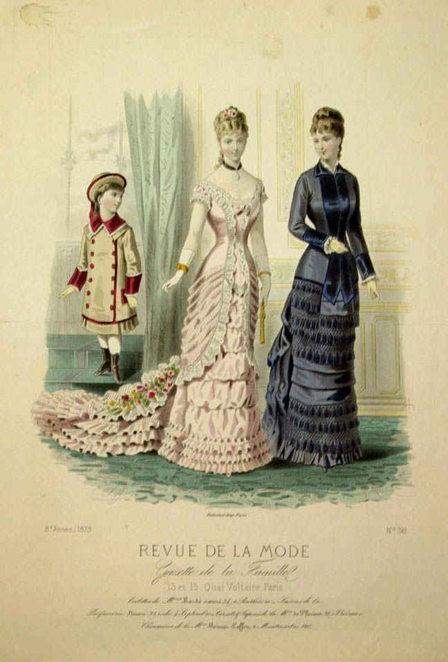 revue de la mode 1879 1879s fashion plates pinterest victorian elegant lady and fashion. Black Bedroom Furniture Sets. Home Design Ideas