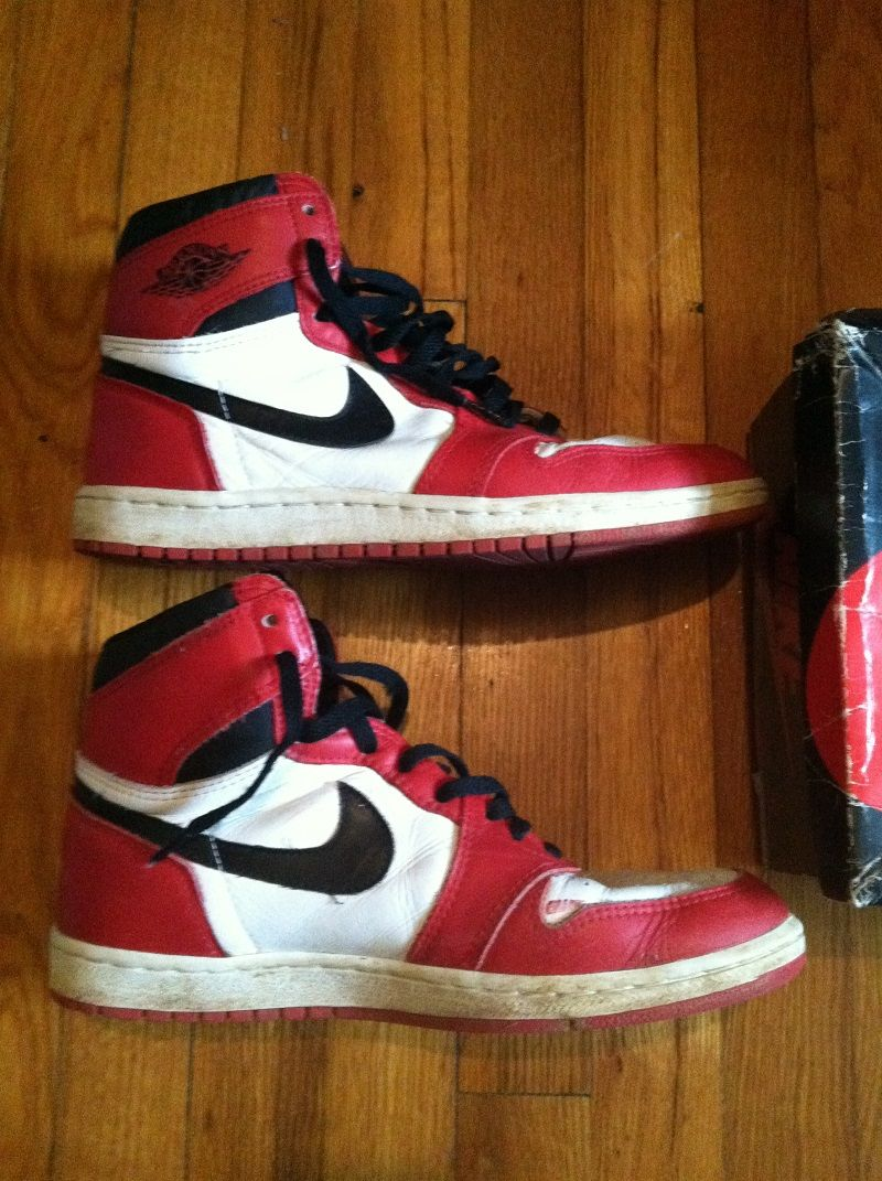 Check out these original vintage 1980s NIKE Air Jordan sneakers for sale