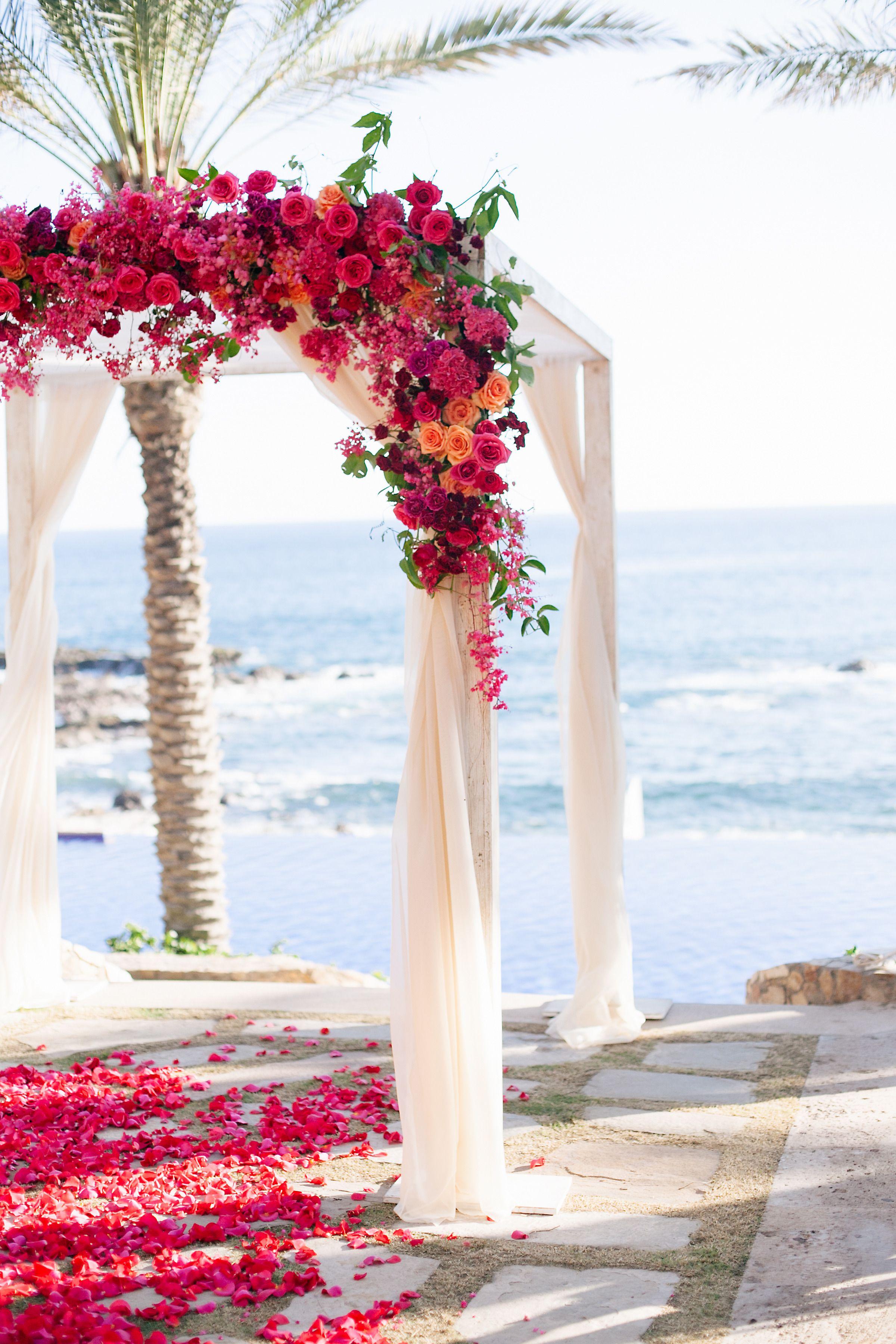 Colorful Cabo Wedding Tema Do Casamento Casamentos Do Destino