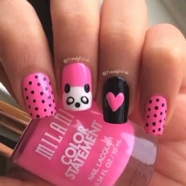 Hermosas   express yourself   Pinterest   Kawaii nails, Pretty nail ...