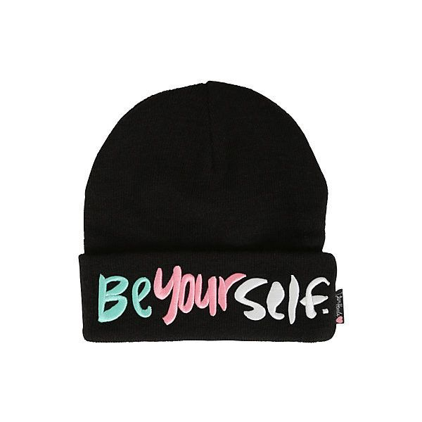 Teen Hearts Be Yourself Watchman Beanie | Hot Topic ($13) ❤ liked on  Polyvore