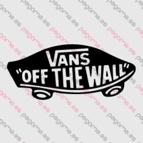 pegatina vans of the wall roja