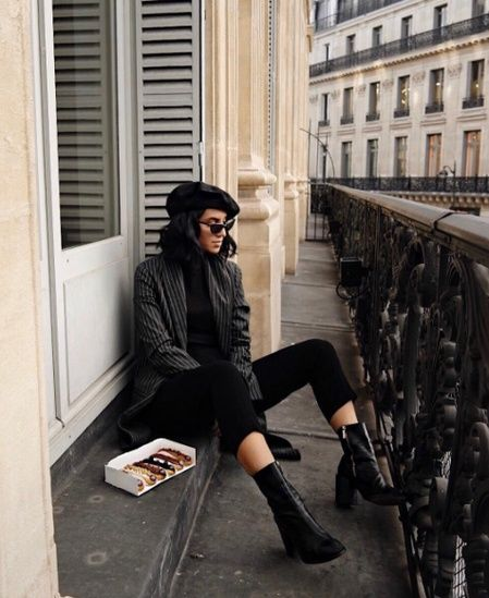 Fashion Look Featuring Tom Ford Sunglasses and Theory Petite Outerwear by taniasarin - ShopStyle