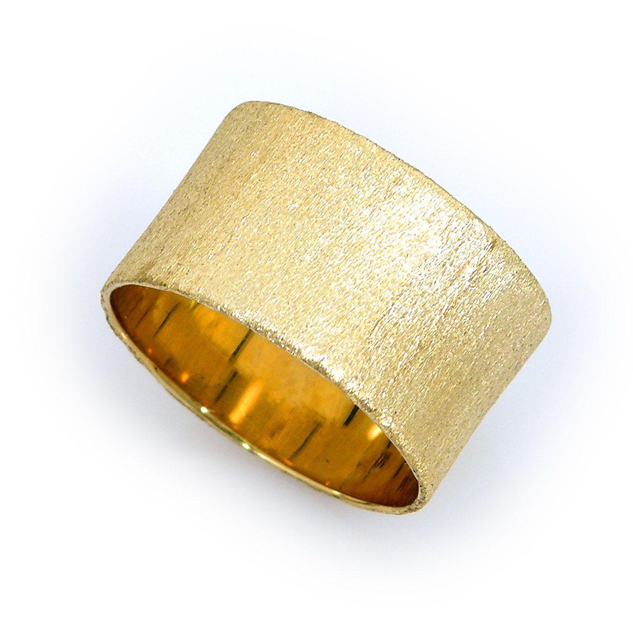 Thick yellow gold band dum dum du duuuum pinterest gold