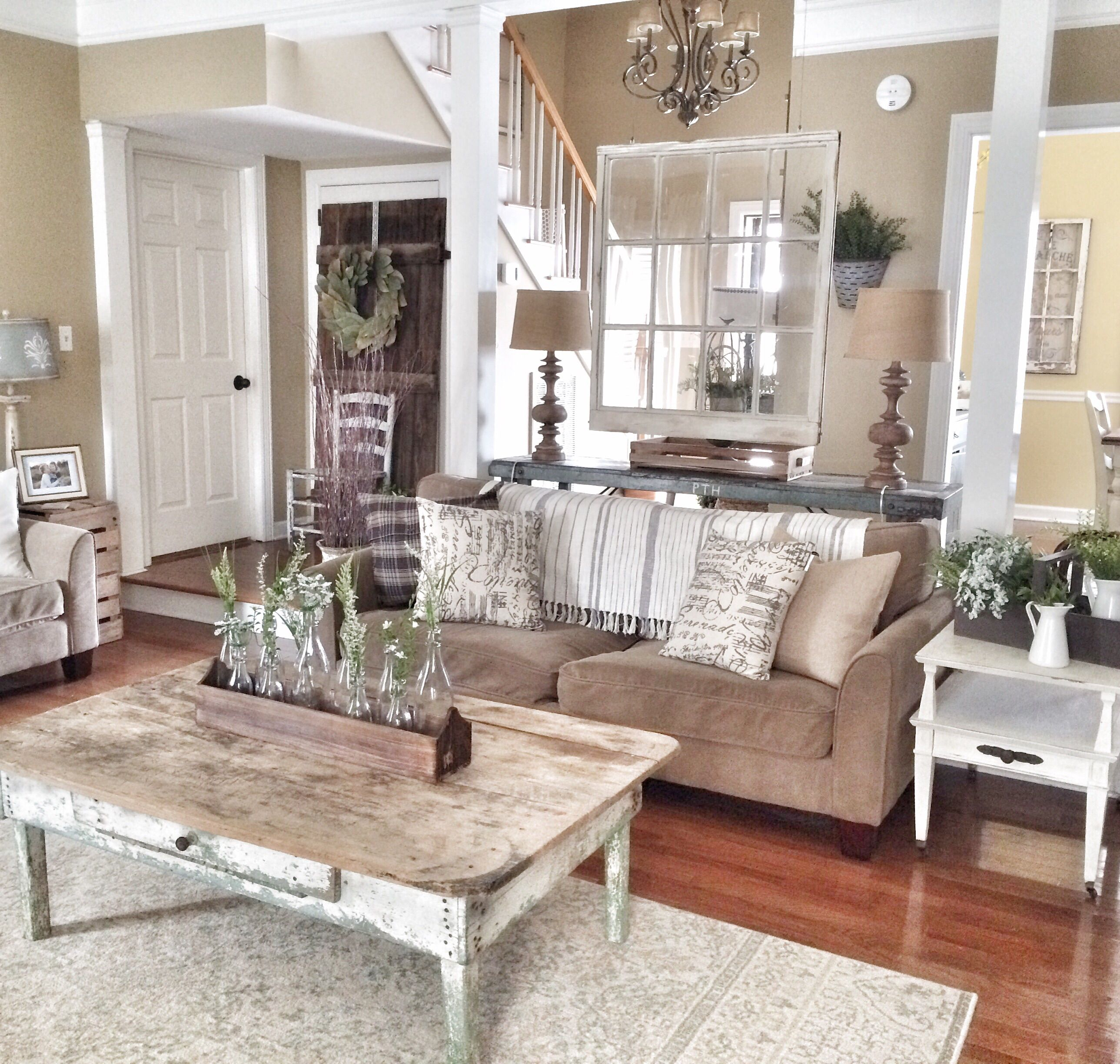 Rustic and farmhouse livingroom my future house - Modern farmhouse living room ...
