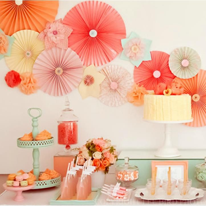 pcs/lot  inch cm honeycomb tissue paper fans wedding birthday, Baby shower invitation