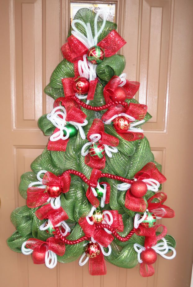 Pin By Kristen Karmazyn On Holidays Pinterest Mesh Christmas Tree Diy Christmas Tree Tomato Cage Christmas Tree
