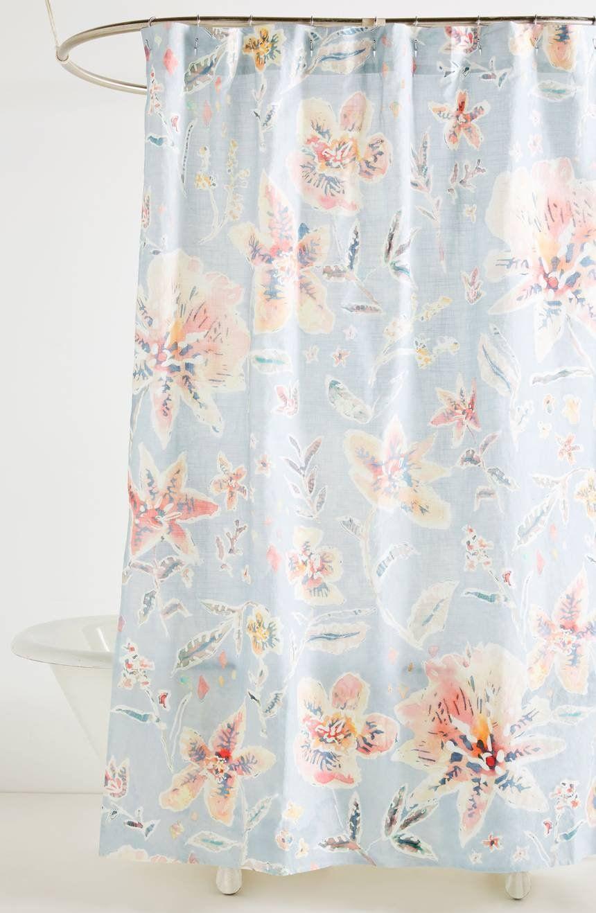 Anthropologie Winslow Shower Curtain Unique Shower Curtain