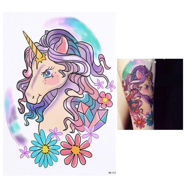 8a6ca2e85 New Arrival 1 Sheet Temporary Tattoo Sticker KM-056 Flower Arm Body Art  Waterproof Tattoo Beauty Fox Women Coquette Decal Design