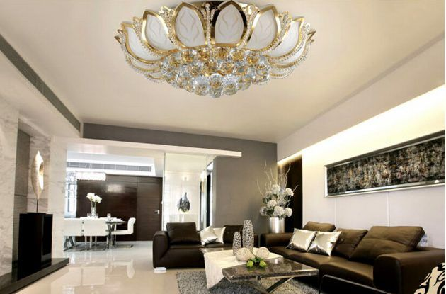 19 Sophisticated Chandelier Designs To Beautify Your Living Room Chandelier In Living Room Crystal Lighting Living Room Grey Dining Room