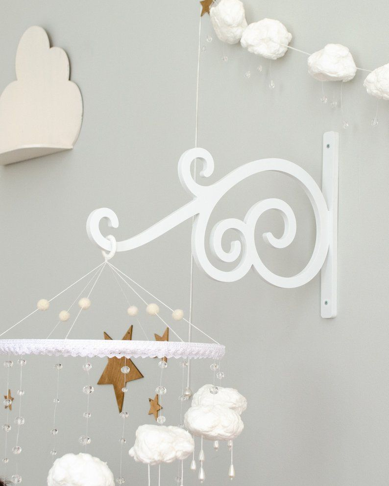 Wall Mounted Baby Mobile Arm White Wall Baby Mobile Hanger White Frame Baby Mobile Wall Support Baby Mobile Wall Mount Bracket Mobile Detskie Dekor Rama