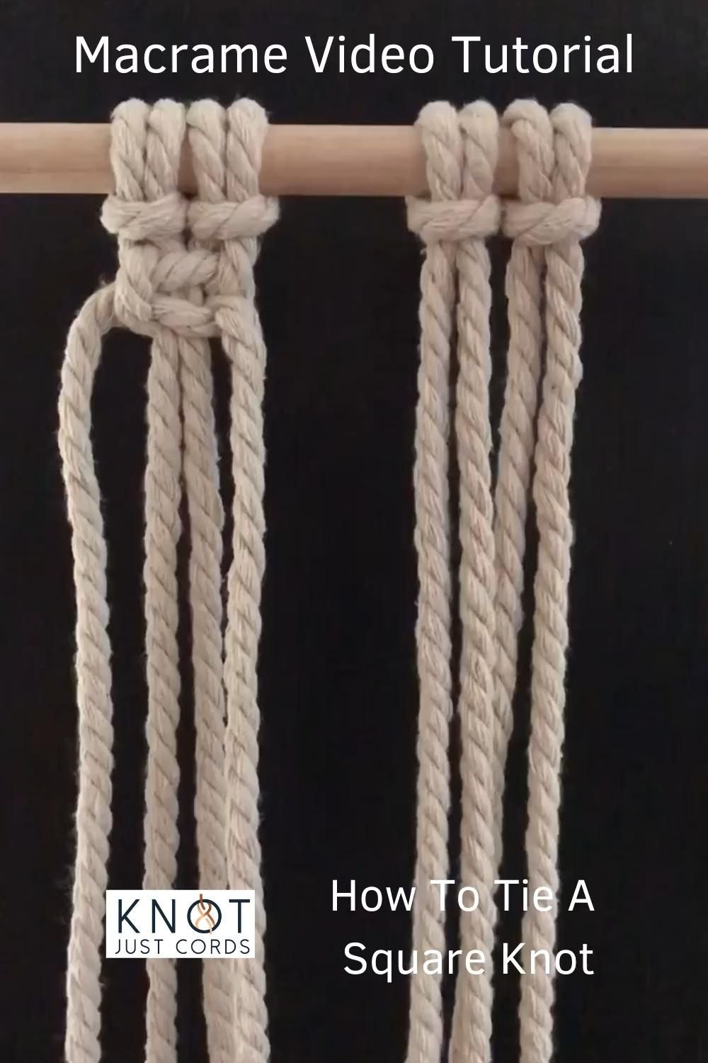 Photo of DIY macrame for beginners. Easy and simple macrame video tutorial. Step by step basic beginner knots