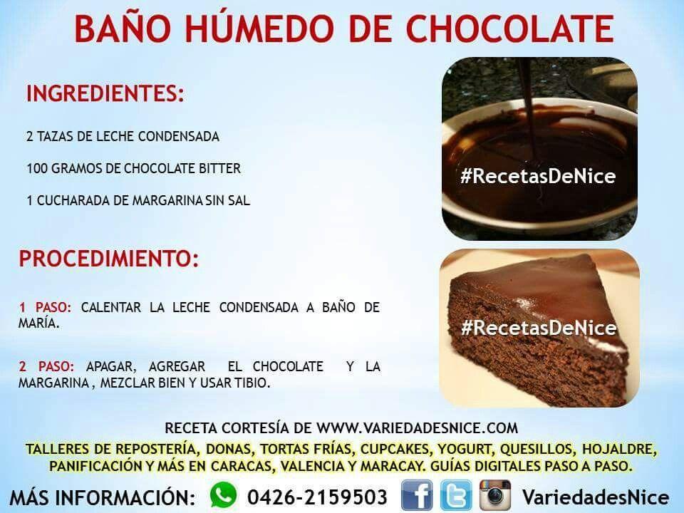Bano De Chocolate Recetas De Torta Esponjosa Recetas De Tartas