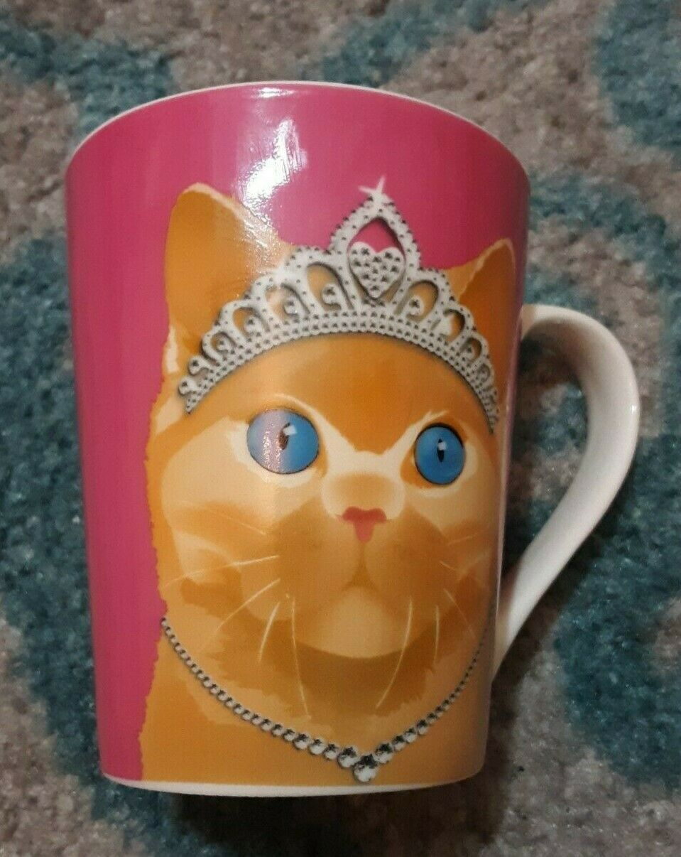Christopher Vine Australia Pink Coffee/Tea Mug With A Cat