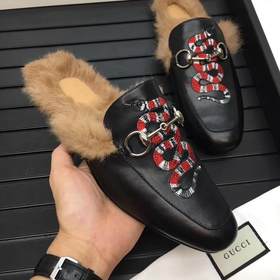 gucci fur slippers price