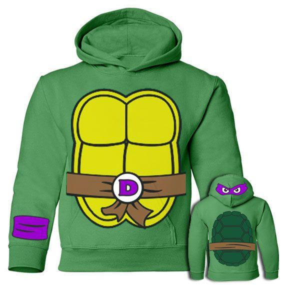 Ninja Turtles Donatello Sweatshirt Hoodie for Kidz by IbraMark, $32.99