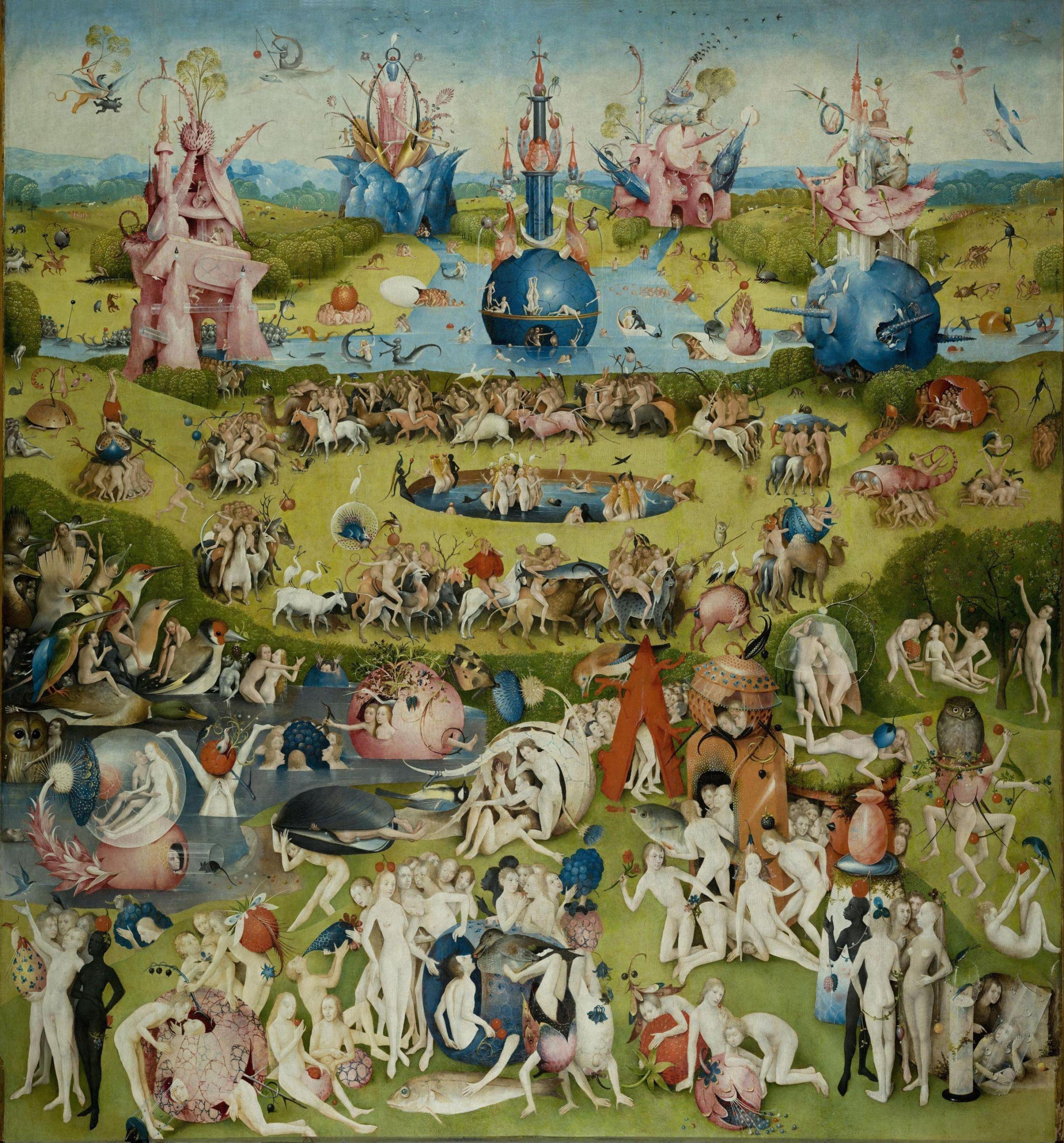 """El jardín de las delicias"""" (Parte central) Autor: El Bosco ..."""