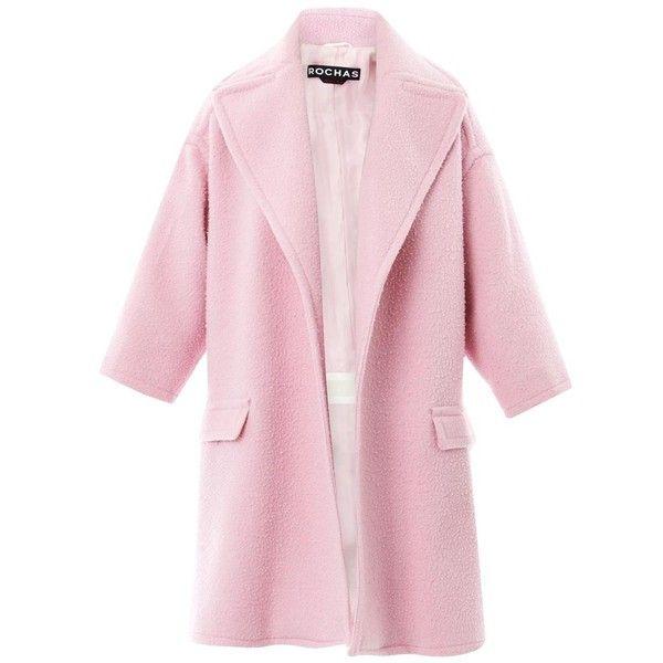 Rochas Felted cazantino wool coat (23.255 ARS) ❤ liked on ...