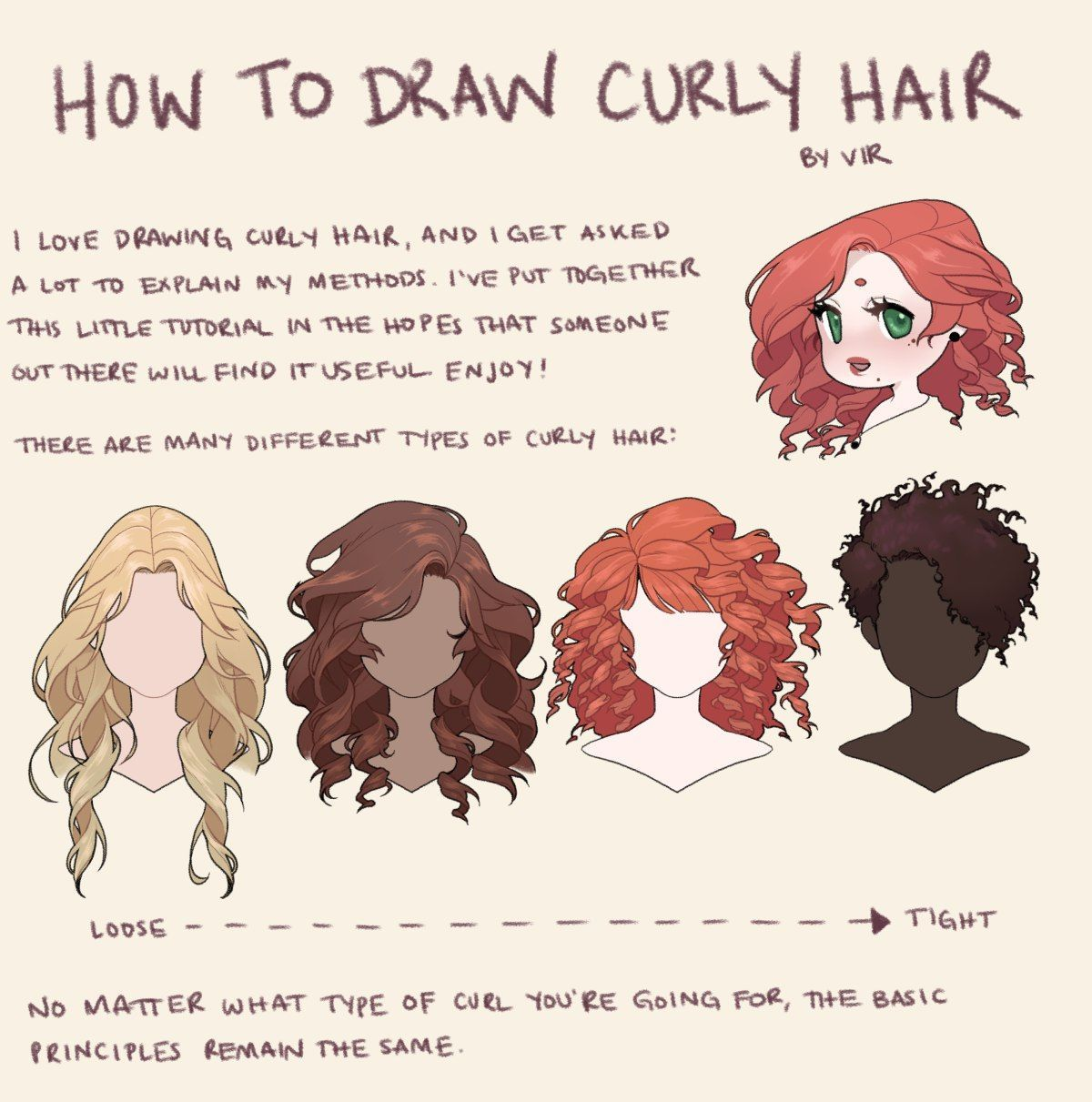 Novosti Drawing Reference How To Draw Hair Curly Hair Drawing