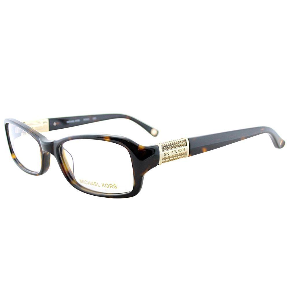 Michael Kors MK 834 206 Tortoise 52-millimeter Rectangle Eyeglasses ...