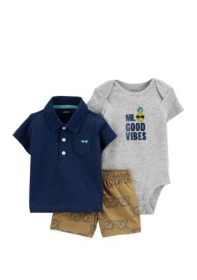 Photo of Carter's® Baby Boys 3-Piece Little Short Set
