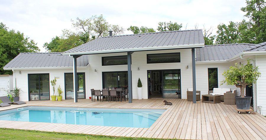 Un air de loft pour une maison bois par IGC BOIS près de Bordeaux ...