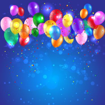 Colored confetti with happy birthday background vector 01 free ...