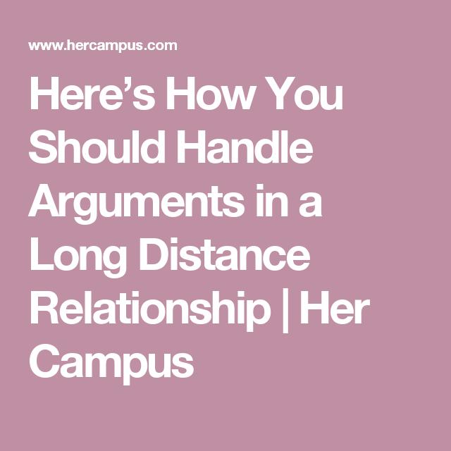 Long distance relationship arguments