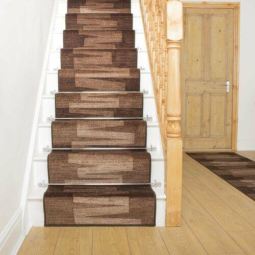 Teppich Benedick in Dunkelbraun Ebern Designs Teppichgröße: Läufer 100 x 720 cm